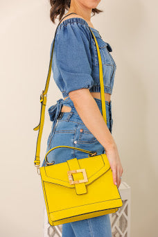 You Got This Resin Buckle Purse - Yellow