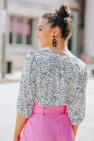 Speckled with Joy Spotted Cropped Top