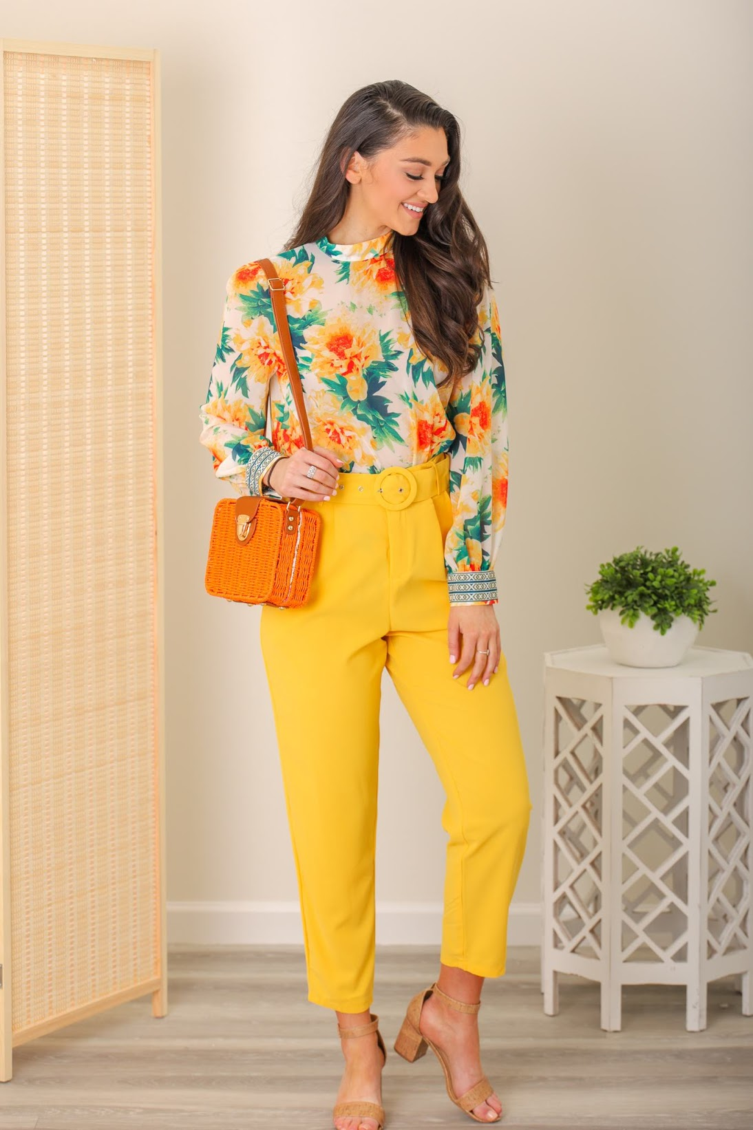 Daffodil Days Yellow Belted Pants