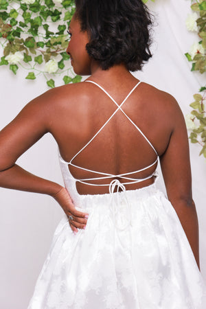 Satin and Shimmer - Strappy White Dress