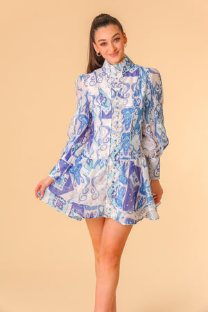 Iris Abstract Print Dress
