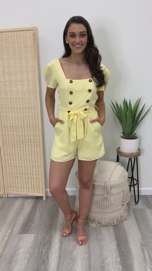 Sun Rays Double Breasted Romper