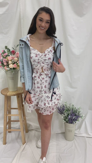 Florals and Frills Peplum Top