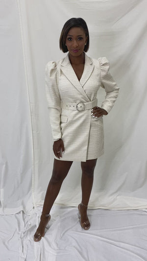 Lucianna Boucle Blazer Dress