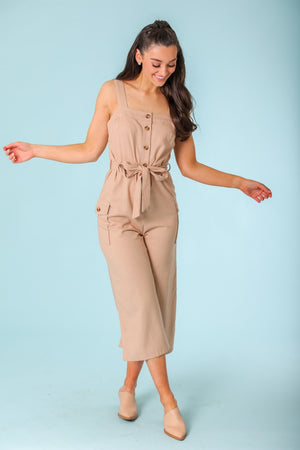 Fun Days Ahead Utility Button Jumpsuit - Jumpsuits - Wight Elephant Boutique