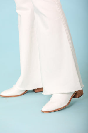 Rolling Along White Flare Jeans