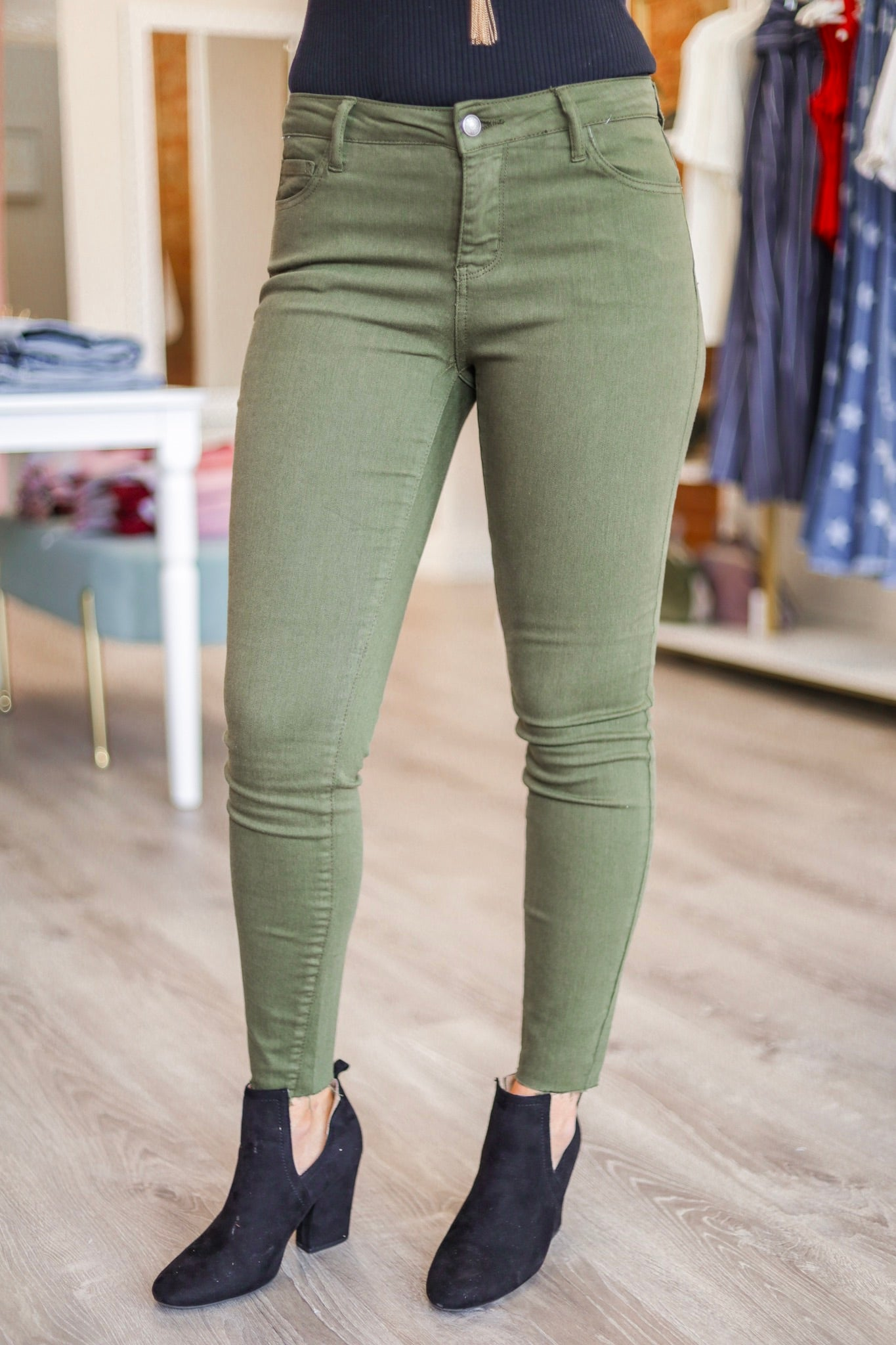 Olive Your Love Mid Rise Jeans - Pants - Wight Elephant Boutique