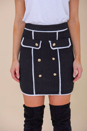 Sharp and Styling Tweed Mini Skirt - Skirts - Wight Elephant Boutique