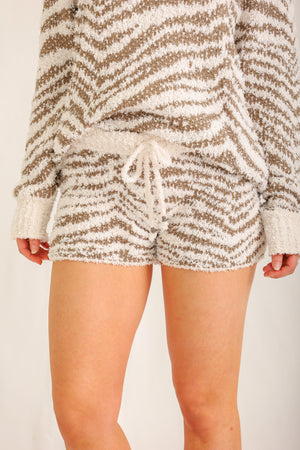 Dream Of The Wild Zebra Shorts- Cream/Olive