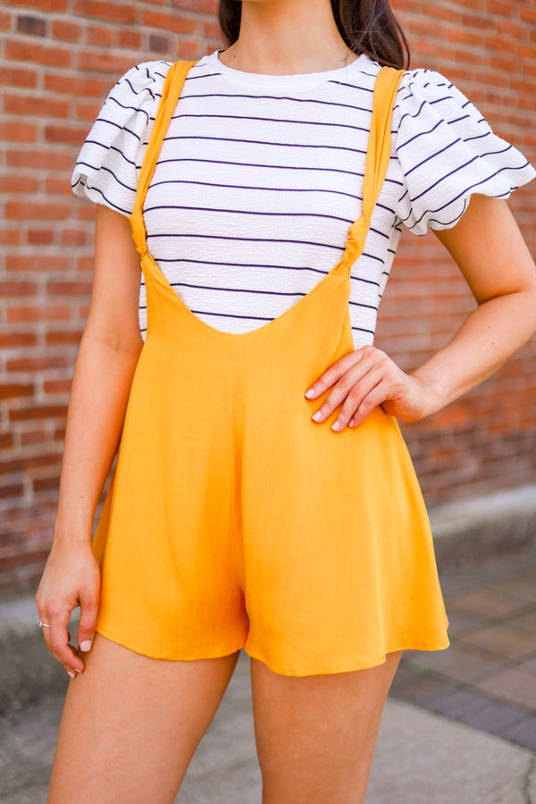 Marshmallow Fluff Striped Puff Sleeve Top