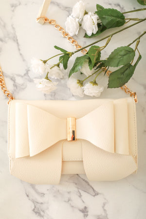 Style Me Pretty Bow Purse - White - Handbag - Wight Elephant Boutique