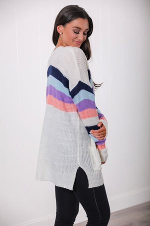 Stripe of Color Cardigan