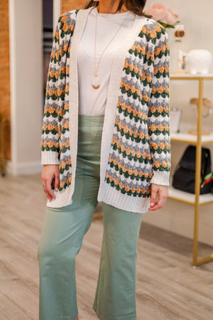 Softly Beautiful Striped Chenille Cardigan