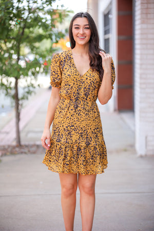 Speckled with Color Button Down Dress