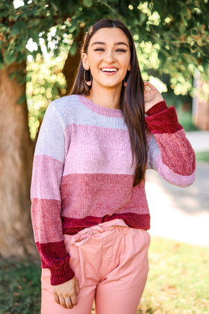 Once in a Lifetime Love Chenille Pullover Sweater