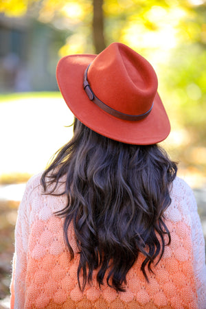 Hats Off to You Rust Wool Felt Hat