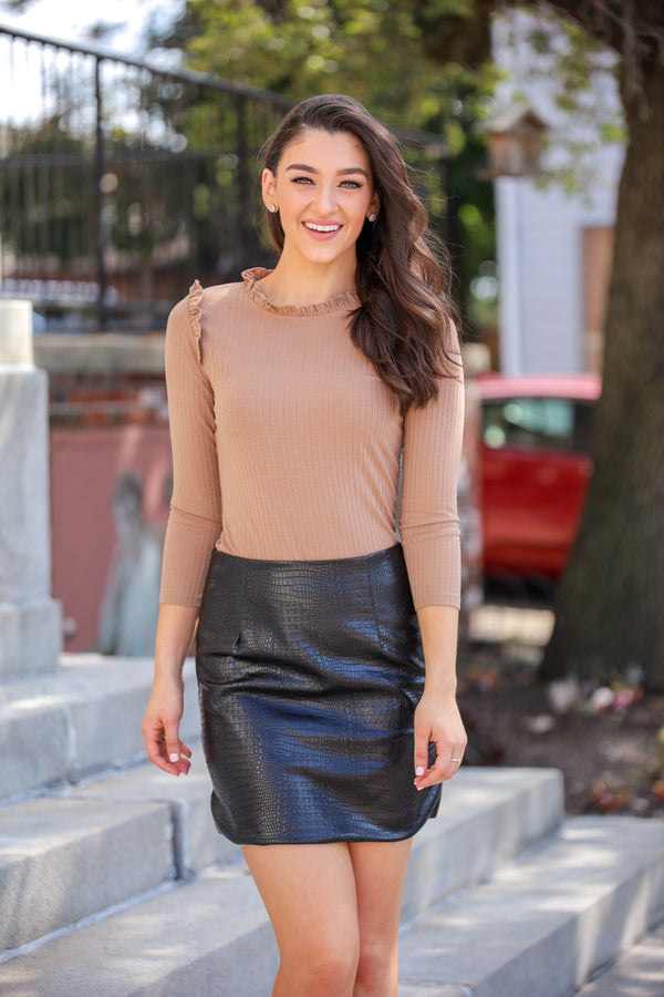 Rough and Ravishing Crocodile Skin Skirt
