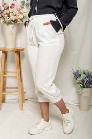Just Love Those Joggers - White