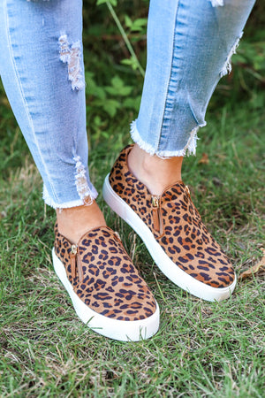 Volatile Hopper Sneaker - Leopard Print - Shoes - Wight Elephant Boutique