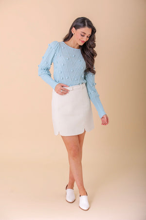 Majorly Mod Belted Wool Skirt