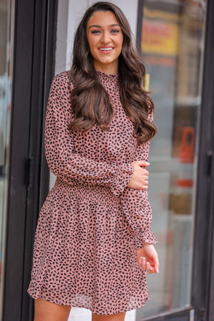 Cute and Coy Smocked Chiffon Dress - Dresses - Wight Elephant Boutique