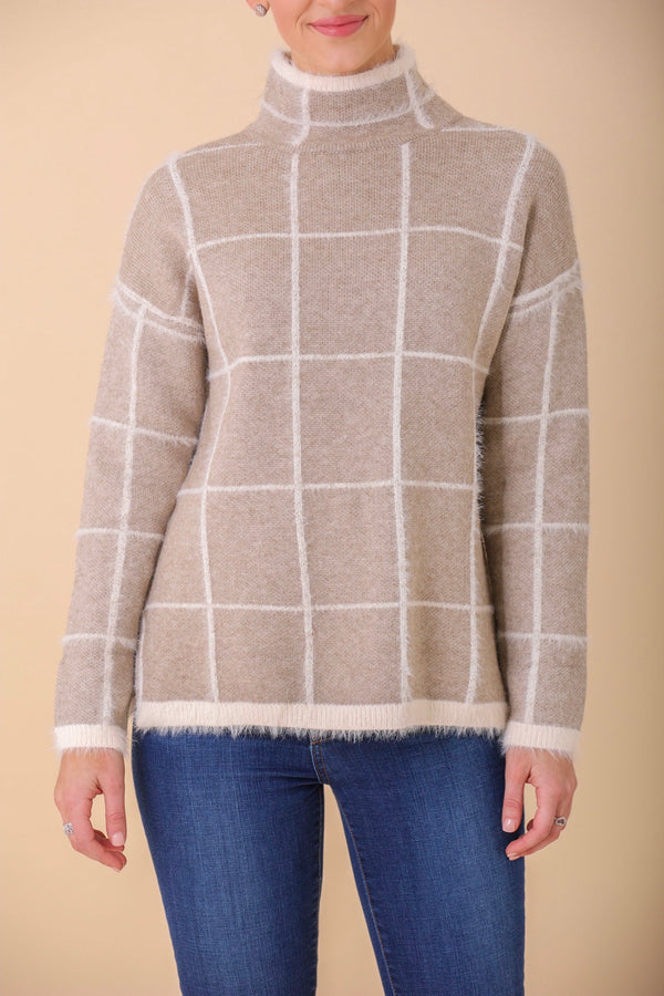 Hip to Be Square Windowpane Mohair Sweater