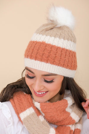 Chase Away the Cold Mohair Striped Beanie - Hats - Wight Elephant Boutique