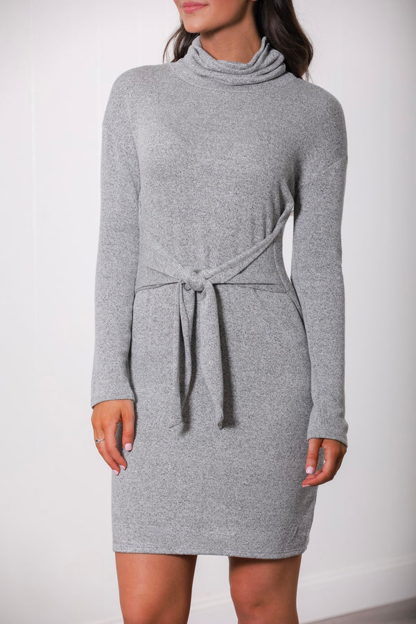 Unbreakable Bond Cowl Neck Dress