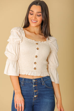 Honestly You Smocked Crop Top - Tops - Wight Elephant Boutique