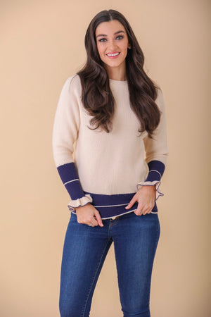 Radiant Ruffle Sleeves Sweater