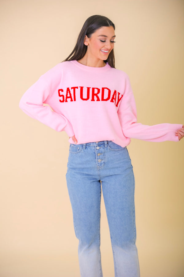 Saturday Knit Sweater - Tops - Wight Elephant Boutique
