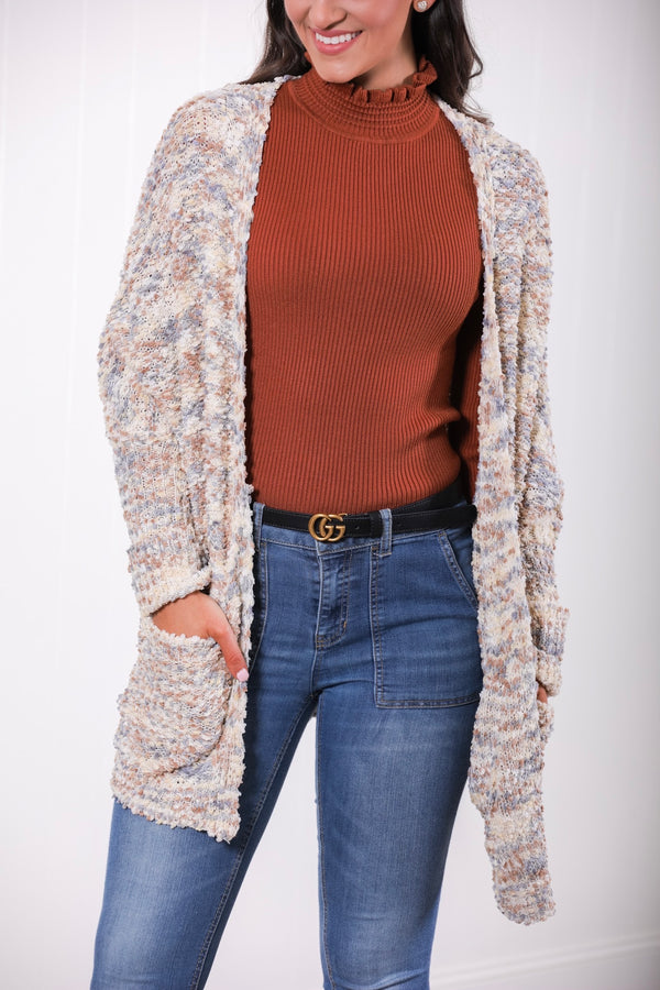 Treat Yourself Popcorn Cardigan - Multi-Colored