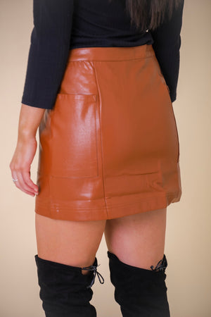 Powerfully You Faux Leather Mini Skirt