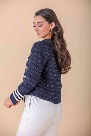 March to Your Own Beat Woven Jacket - Tops - Wight Elephant Boutique