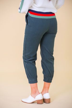 Ready to Move Hunter Green Corduroy Joggers