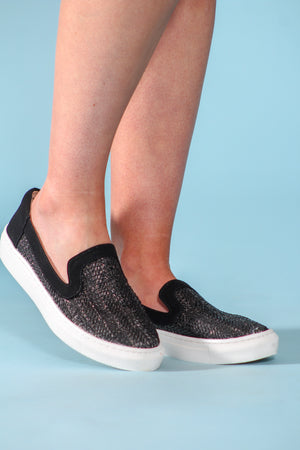 Tap of the Toes Raffia Slip-On Sneaker