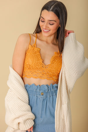 Keep Looking Forward Bralette - Gold - Bralette - Wight Elephant Boutique