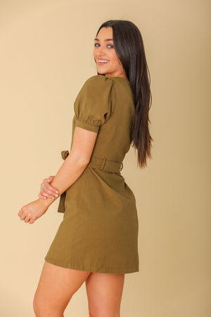 Distant Memory Puff Sleeve Dress - Dresses - Wight Elephant Boutique
