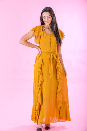 Stand Tall Ruffle Maxi Dress - Dresses - Wight Elephant Boutique