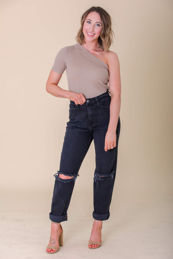 I'll Be There For You High Rise Distressed Boyfriend Jeans - Pants - Wight Elephant Boutique