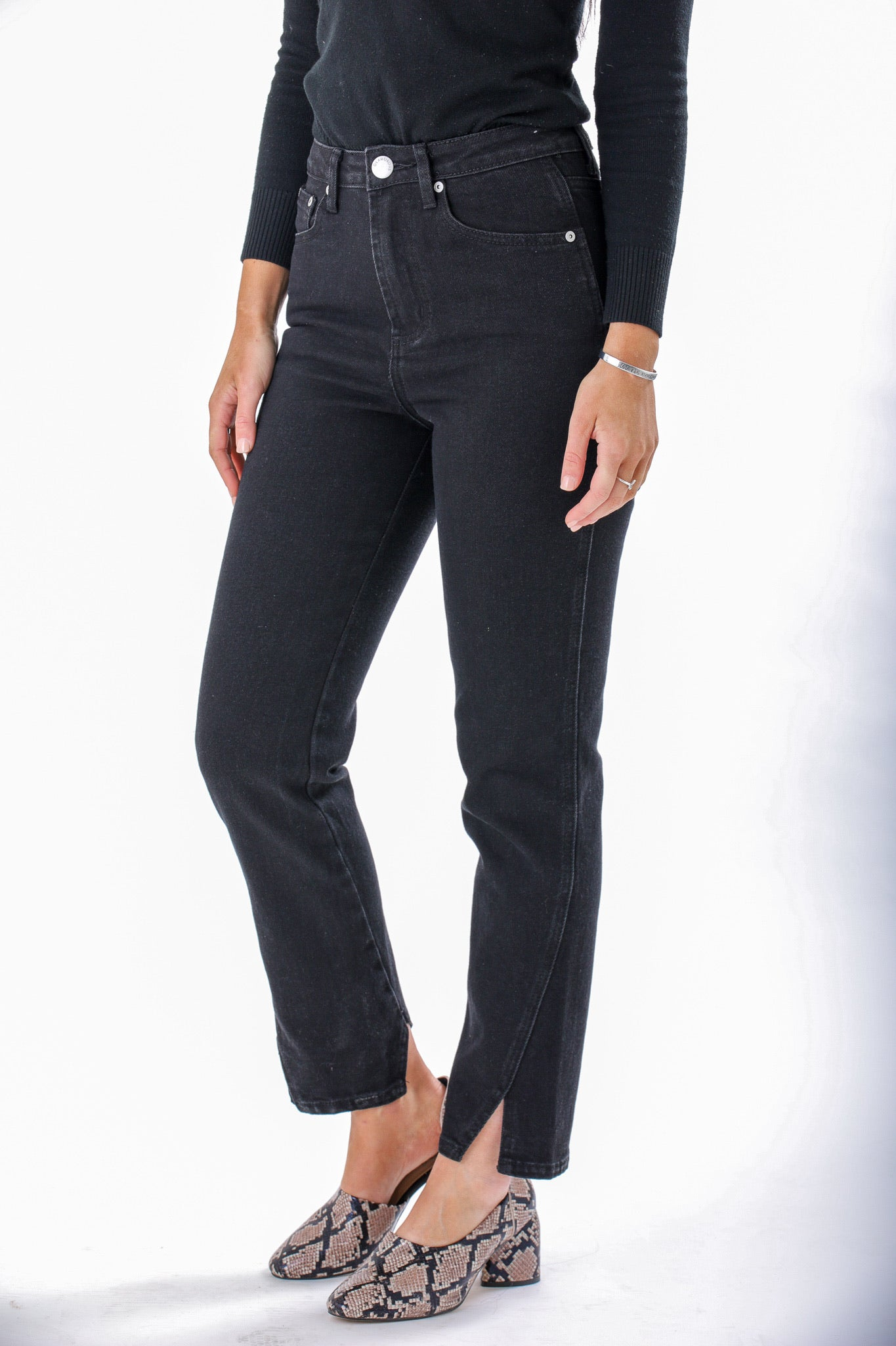 Dark of Night High Rise Jeans - Pants - Wight Elephant Boutique