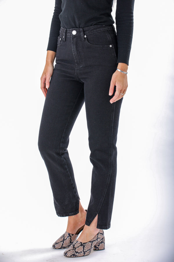 Dark of Night High Rise Ankle Riser Jeans