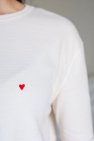 Piece of My Heart Embroidered Thermal