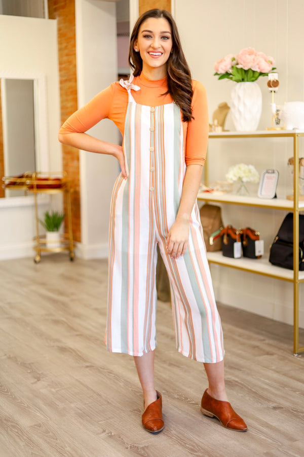 Knotted Together Striped Jumpsuit