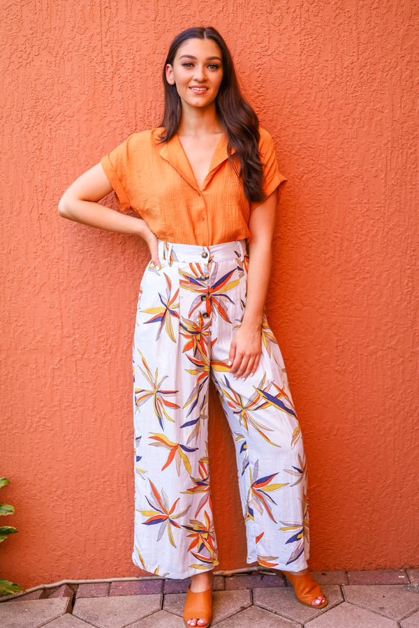 Birds of Paradise Wide Leg Pants - Pants - Wight Elephant Boutique