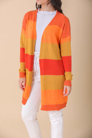Firelight Color Block Cardigan