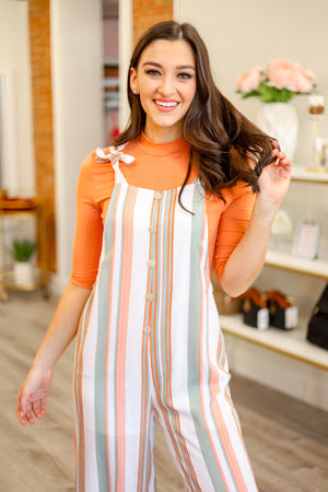 New Side of You Mock Neck Top - Salmon