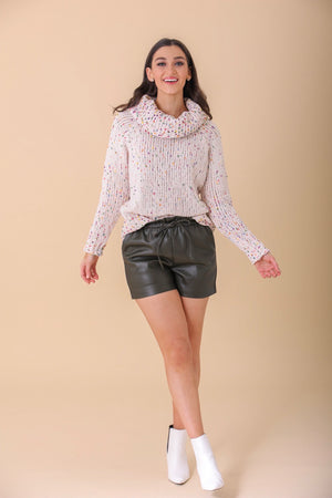Tough Together Olive Faux Leather Shorts - Shorts - Wight Elephant Boutique