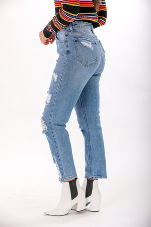 Walk It Off Distressed Straight Jean - Pants - Wight Elephant Boutique