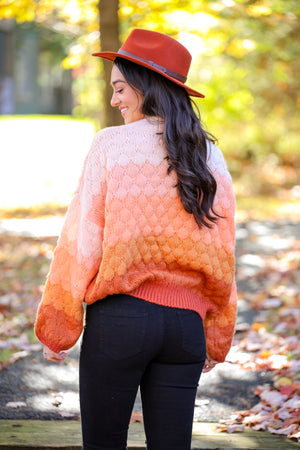 Sunset in the Mountains Knit Pullover Sweater